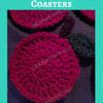 Teacher Apple Coasters Crochet Pattern