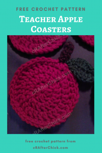 Teacher Apple Coasters Free Crochet Pattern