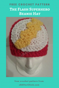 The Flash Superhero Beanie Hat Free Crochet Pattern