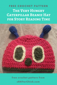 The Very Hungry Caterpillar Beanie Hat Free Crochet Pattern for Story Reading Time