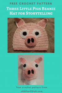 Three Little Pigs Beanie Hat Free Crochet Pattern for Storytelling