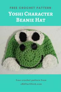 Yoshi Character Beanie Hat Free Crochet Pattern