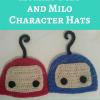 ilomilo's Ilo and Milo Character Hats Free Crochet Pattern