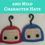 ilomilo's Ilo and Milo Character Hats Crochet Pattern