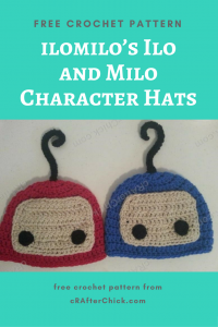 ilomilo's Ilo and Milo Character Hats Free Crochet Pattern