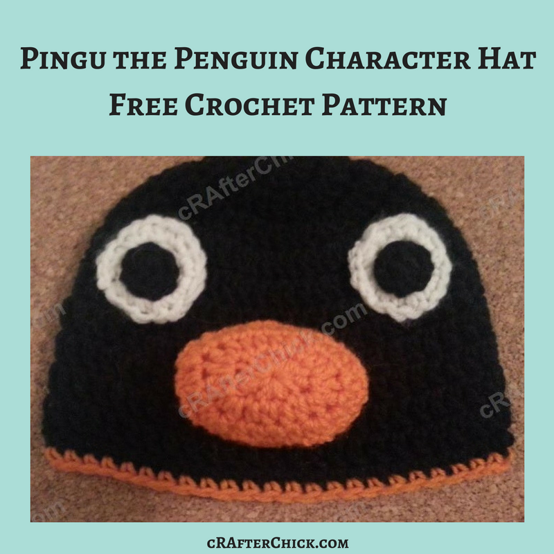 Pingu The Penguin Character Hat Crochet Pattern Crafterchick