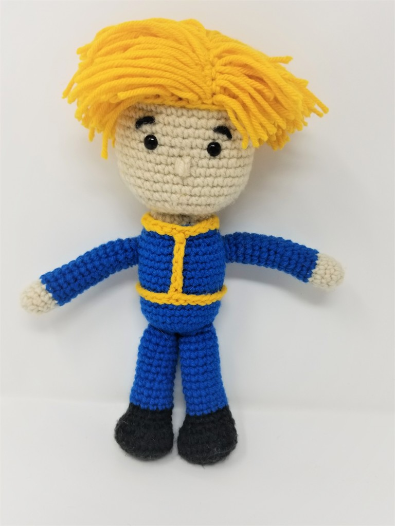 Fallout's Vault Boy Amigurumi Doll