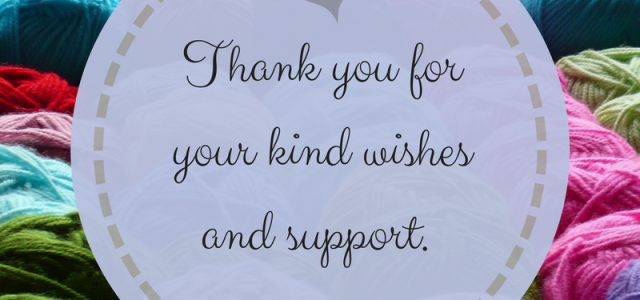 Thank you for your kind wishes and support from cRAfterChick.com returning to crochet