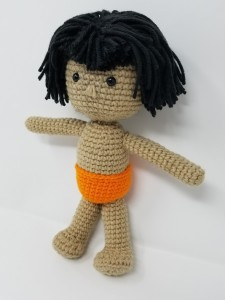 Jungle Book's Mowgli Amigurumi Doll Crochet (side front view)