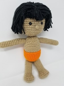 Jungle Book's Mowgli Amigurumi Doll Crochet (front side view)
