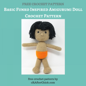 Basic Funko Inspired Amigurumi Doll Crochet Pattern Free Crochet Pattern from cRAfterChick.com