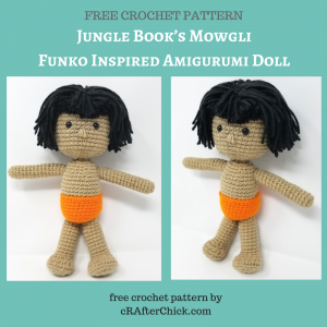 Jungle Book's Mowgli Funko Inspired Amigurumi Doll Free Crochet Pattern by cRAfterChick.com