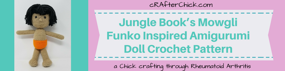 Jungle Book's Mowgli Funko Inspired Amigurumi Doll Crochet Pattern