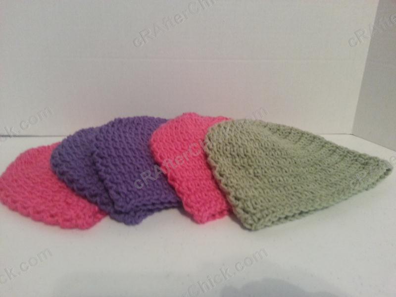 Easy Peasy Teen / Women Free Double Crochet Beanie Pattern - free crochet pattern for hat