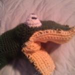 Bath Time Alligator Hand Puppet Washcloth Crochet Project