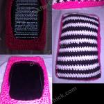 Soft Zebra Striped Stuffed Kindle Fire Holder Crochet Project