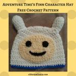 Adventure Time's Finn Character Hat Crochet Pattern