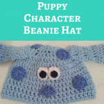 Blue's Clues Puppy Character Beanie Hat Crochet Pattern