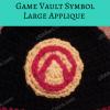 Borderlands Video Game Vault Symbol Large Applique Free Crochet Pattern long image