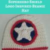 Captain America Superhero Shield Logo Inspired Beanie Hat Free Crochet Pattern