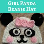 Chibi Baby Girl Panda Beanie Hat Crochet Pattern