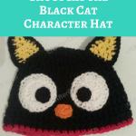 Chococat the Black Cat Character Hat Crochet Pattern