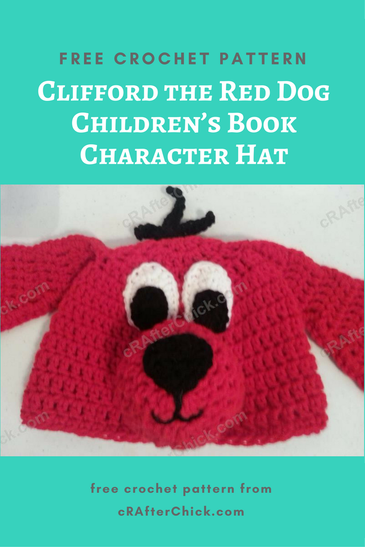 Clifford The Red Dog Childrens Book Character Hat Crochet