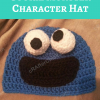 Cookie Monster Character Hat Free Crochet Pattern