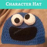Cookie Monster Character Hat Crochet Pattern