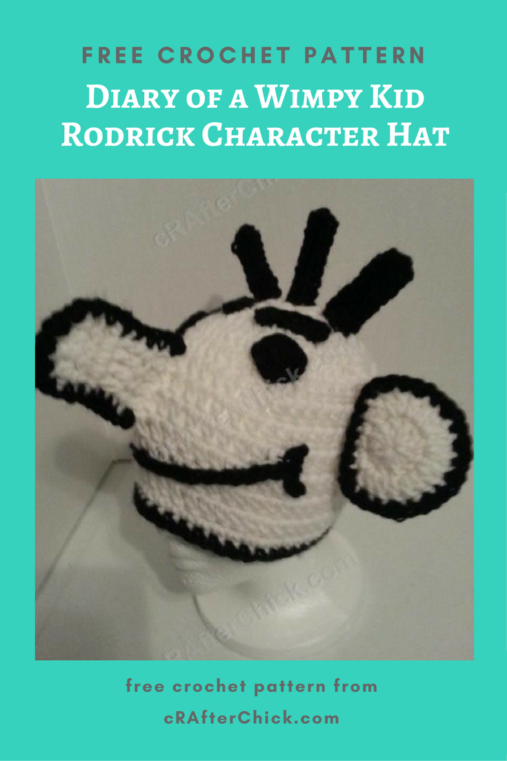 Diary Of A Wimpy Kid Rodrick Character Hat Crochet Pattern