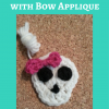 Easy Girly Skull with Bow Applique Free Crochet Pattern long image