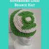 Green Lantern Superhero Logo Beanie Hat Free Crochet Pattern
