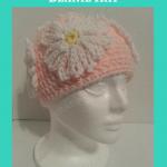 Head Full of Daisies Beanie Hat Crochet Pattern