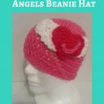 Jordan's Pink Angels Beanie Hat Crochet Pattern