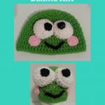 Keroppi the Frog Beanie Hat Crochet Pattern