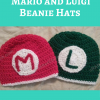 Mario and Luigi Beanie Hats Free Crochet Pattern