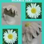 One Giant Daisy Beanie Hat Crochet Pattern
