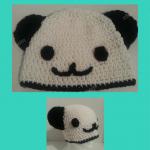 Pankun the Panda Character Beanie Hat Crochet Pattern