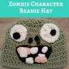 Plants vs. Zombies Zombie Character Beanie Hat Free Crochet Pattern
