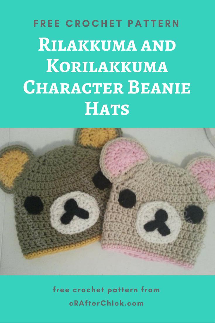 Rilakkuma And Korilakkuma Character Beanie Hats Crochet
