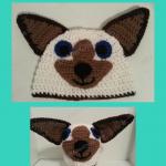 Skippyjon Jones Siamese Cat Book Character Beanie Hat Crochet Pattern