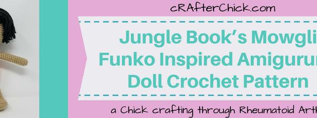 Jungle Book's Mowgli Funko Inspired Amigurumi Doll Crochet Pattern